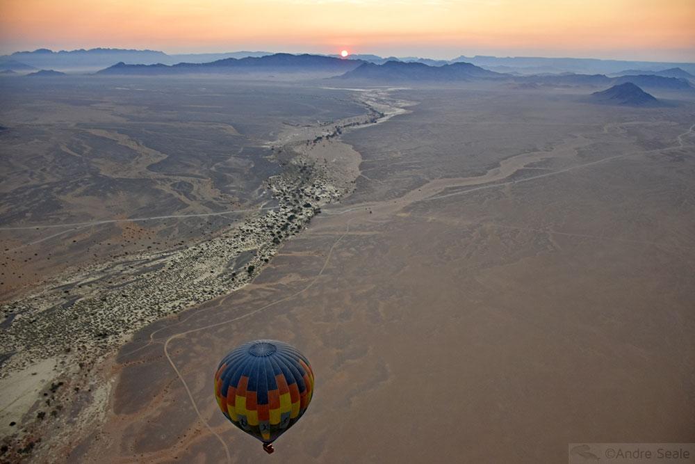 Vista aérea do deserto da Namíbia
