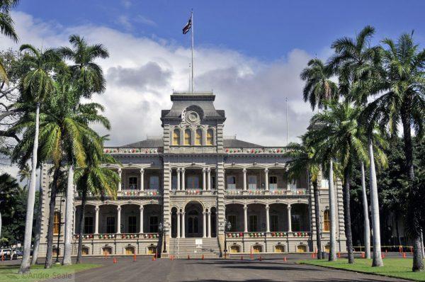 Chuva no Havaí - Iolani Palace