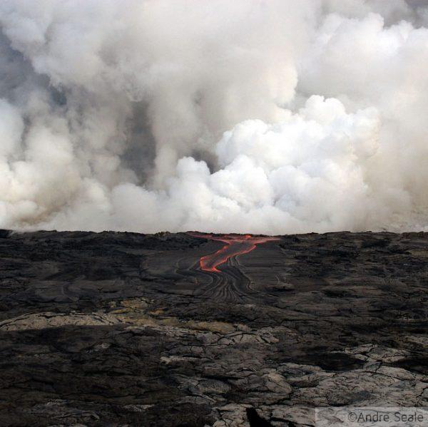 Caminhada na lava na Big Island - Havaí