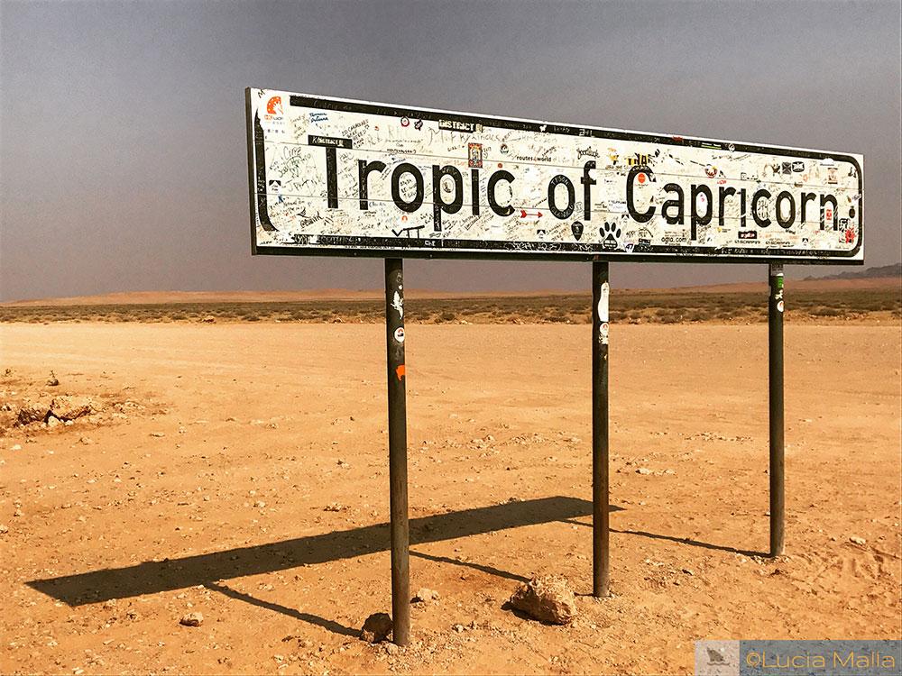 Trópico de Capricórnio - deserto da Namíbia