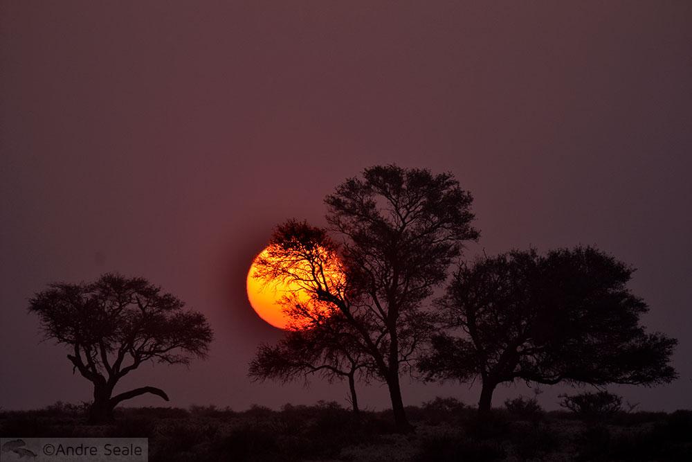 Por do sol - Namíbia