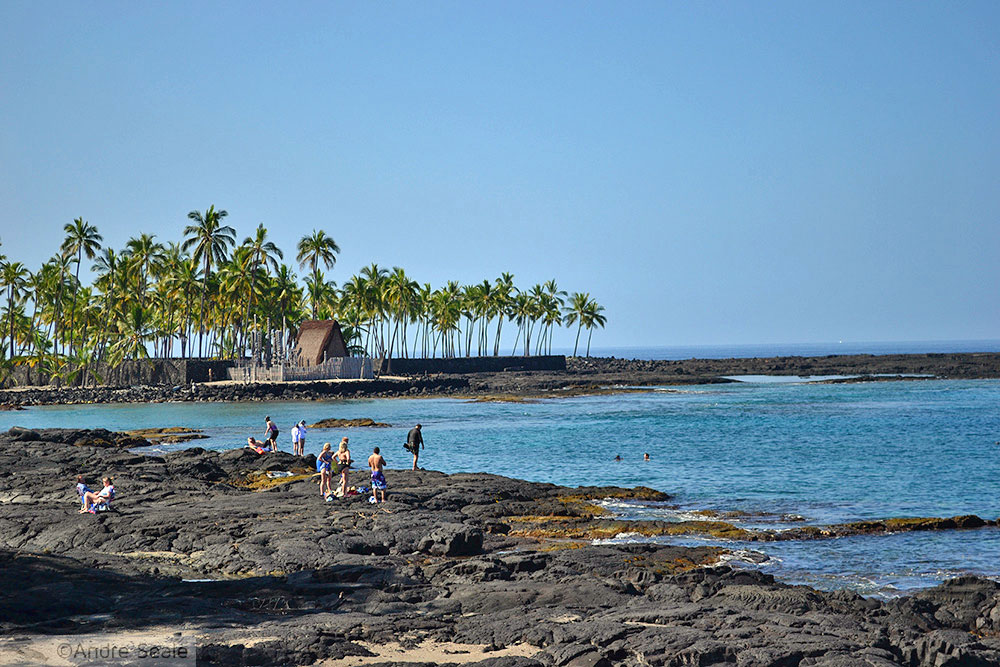 Praia de Honaunau - Big Island - Roteiro no Hawaii