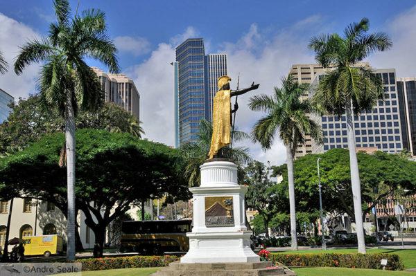 Hawaii - Estátua do Kamehameha