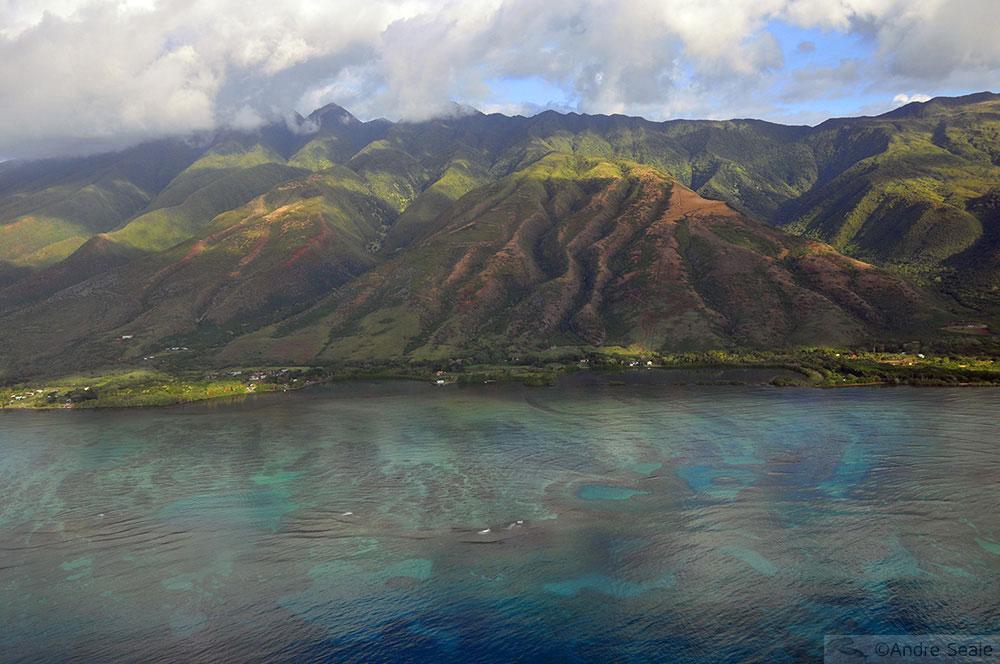 Vista aérea - fishponds de Molokai - Havaí