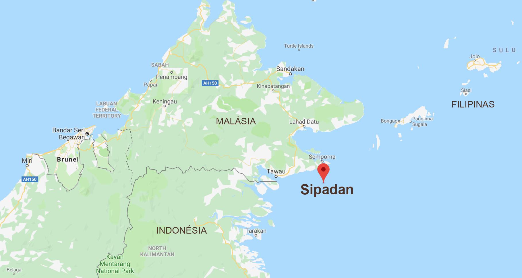 Mapa de Sipadan