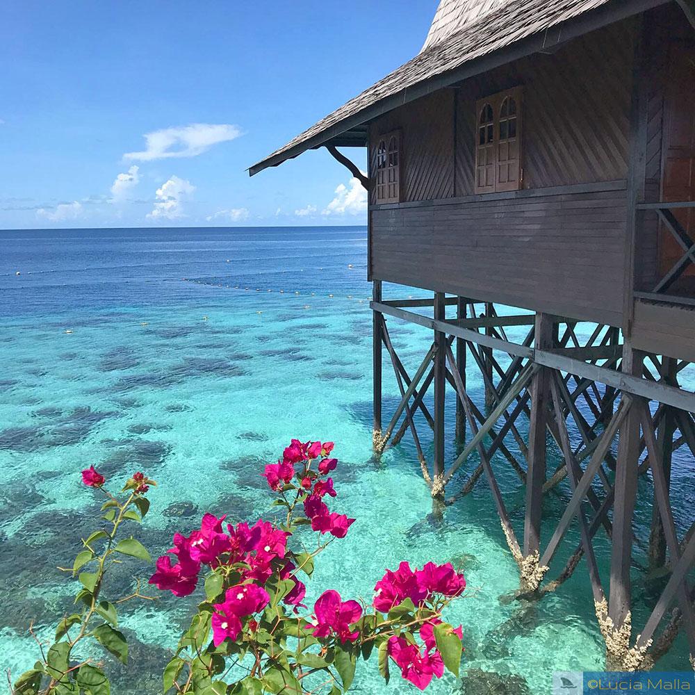 Bangalô no recife de coral em Kapalai Dive Resort - Sipadan