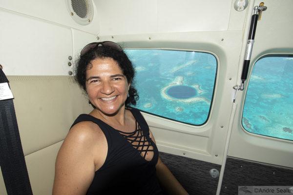 Visitar Great Blue Hole - vôo panorâmico