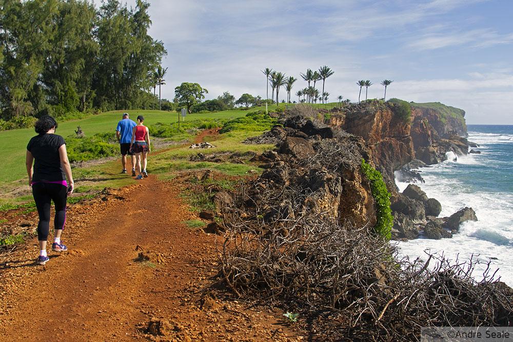 Trilha de Mahaulepu - Kauai - campo de golfe
