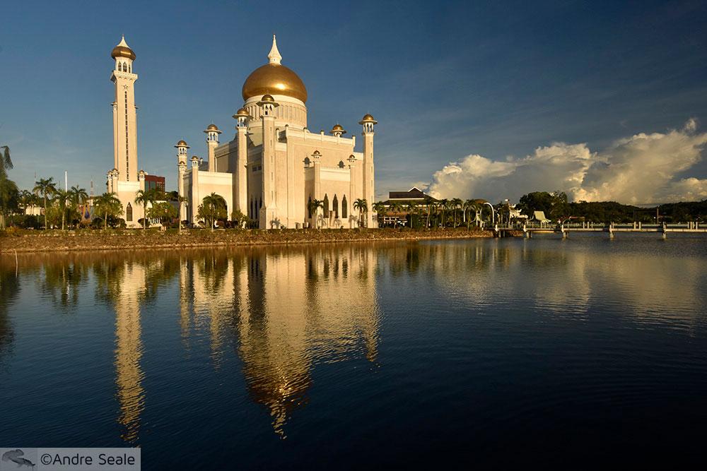 Roteiro em Brunei - Mesquita Sultão Ali Saifuddien