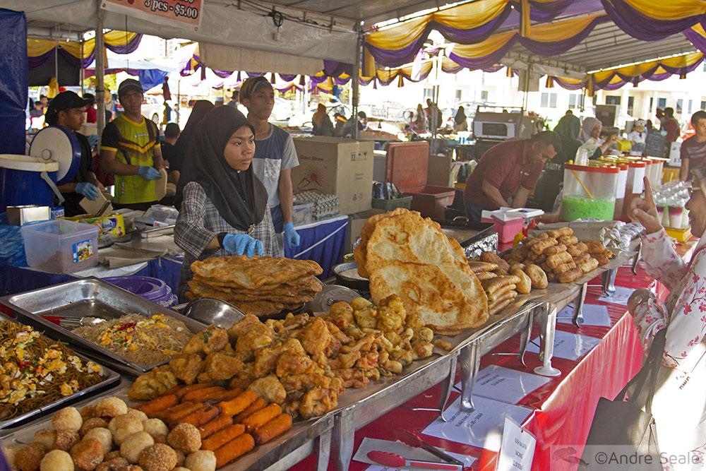 Comida halal do Ramadan - Roteiro em Brunei