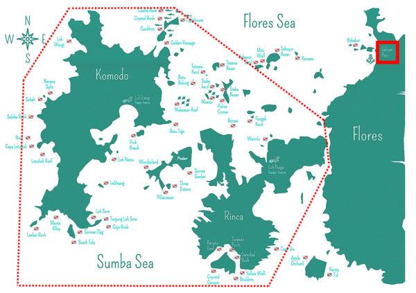 Mapa - Parque Nacional de Komodo