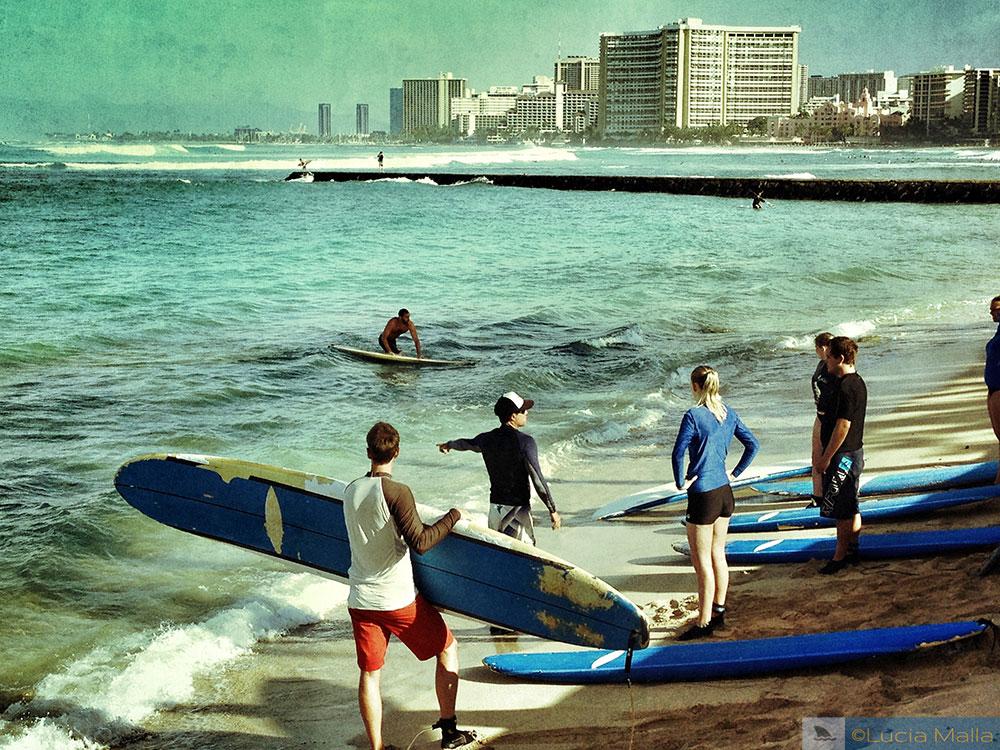 Aula de surfe - Waikiki