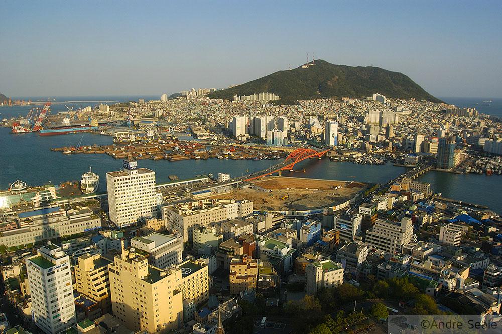Busan ou Pusan - vista aérea - Coréia do Sul