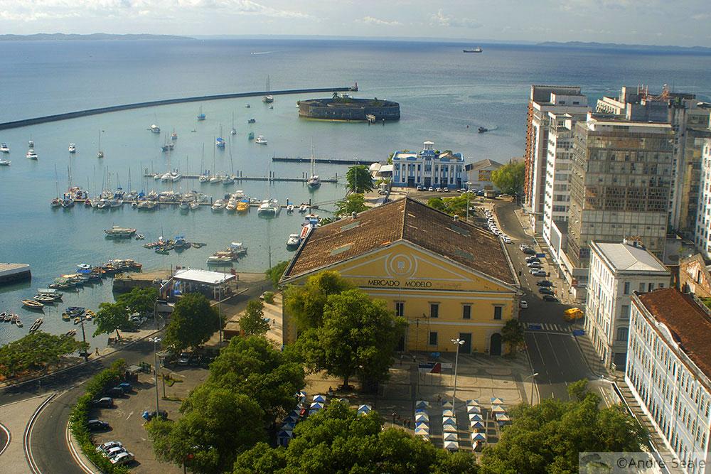 Darwin dormiu aqui - Vista de Salvador (BA) - Darwin na América do Sul